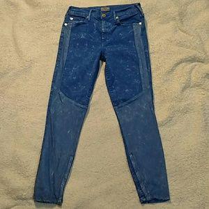 True Religion Halle Moto Bleached Skinny Jeans